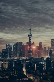 800x1200 wallpaper shanghai china skysers night panorama