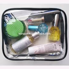 tsa approval eva pvc cosmetic bag for women zipper waterproof airline makeup travel organizer toiletry bag