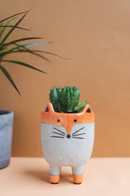 <b>Abstract Fox</b> Earthenware Planter – Ian Snow Ltd
