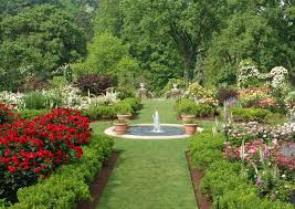Garden, Fascinating Colourful Rectangle Modern Grass Pictures Of Gardens  Ornamental The Poll On Centerpieces Garden