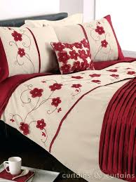 stacey red fl embroidered duvet cover red and gold king size duvet covers linen duvet cover