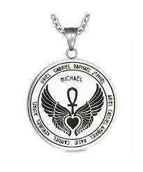 archangels guardian medallion pendant necklace