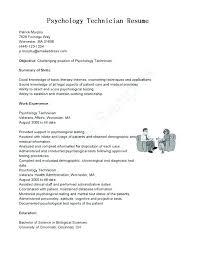Resume For Letter Of Recommendation Psychology Resume Sample