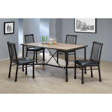 Black Wood Dining Chairs Acme Furniture Caitlin Black Metal Dining Chair Set Of 2 72037