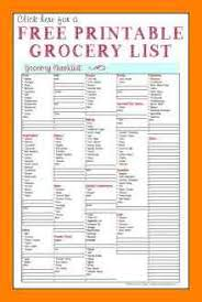6+ Free Printable Grocery Shopping List Template | St Columbaretreat ...