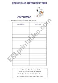 Be Verbs Chart Regular And Irregular Verbs Chart Esl Worksheet By Ye86
