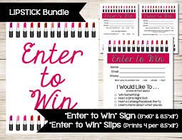 Enter To Win Sign Door Prize Drawing Slip Raffle