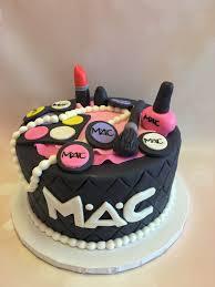 single tier mac makeup cake