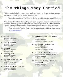 best the things they carried images ap english  the things they carried from the national veterans art museum in chicago