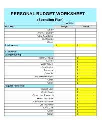 Personal Financial Budget Sheet Personal Budgeting Spreadsheet 6 Sample Budget Sheets Templates