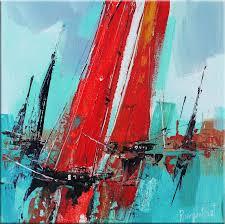 boat race 6 painting 30x30x0 5 cm 2017 by irina rumyantseva