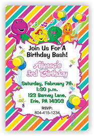 barney party invitation template colors barney and friends birthday invitation card as well as