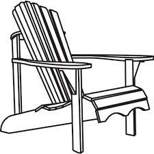 adirondack chair silhouette. Brilliant Silhouette In Adirondack Chair Silhouette
