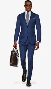 Suit Blue Plain Havana P5946 Suitsupply Online Store