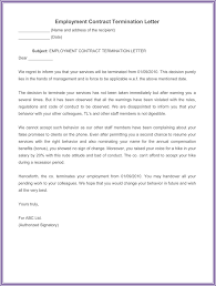 Sample Of A Termination Letter To An Employee 7 Employment Termination Letter Samples To Write A Superior Letter