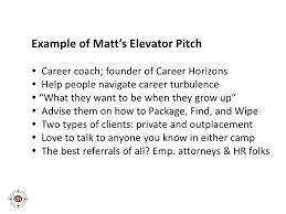 Elevator Speech Example For Job Seekers Template – Spiritcubeapp