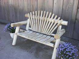 log cabin outdoor furniture patio. white cedar rustic log park bench fanback style amish made in the cabin outdoor furniture patio