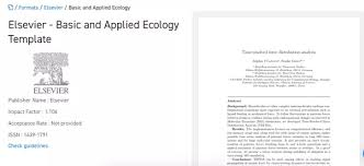 template for submissions to journal where can i find the word template for elsevier journals for