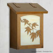vertical wall mount mailbox. Japanese Maple Vertical Wall Mount Mailbox