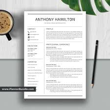 How To Make A Modern Resume In Word Simple Resume Template Job Cv Template 1 2 3 Page Word Resume Design Professional And Modern Resume Cover Letter Instant Download Anthony