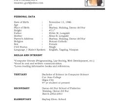Undergraduate Student Cv Template Doc Professional Resume Templates