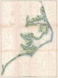 Details About 1875 Coastal Survey Map Chart The North Carolina Coast Nc