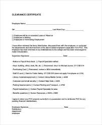 Employment Separation Certificate Form Magnificent Employee Clearance Form Clearance Certificate For Resigned Employee