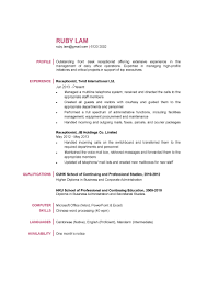 Resumes Resume Format Fortionist Fresher With No Experience In Hotel