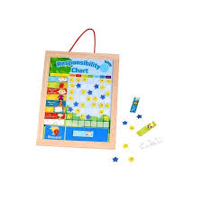 Toddle Toy Wooden Responsibility Chart Kids Magnetic