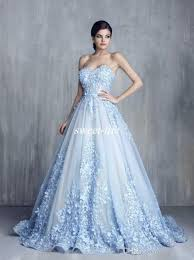 ball dresses online. ziad nakad charming 3d floral light blue appliques long evening dresses 2017 handmade flower sweetheart ball gown lace prom pageant gowns online