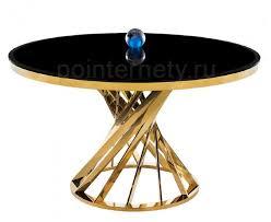 <b>Стол</b> стеклянный <b>Twist gold</b> / <b>black</b> Мебель Китая купить в Москве ...