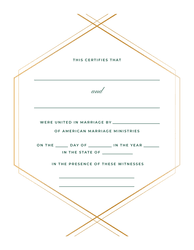 blank ordination certificates traditional marriage certificate american marriage ministries
