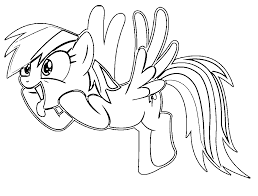 Small Picture Funny rainbow dash coloring pages ColoringStar