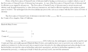 Example Document For Revocation Of General Power Of Attorney