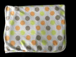 carters polka dot orange lime green tan