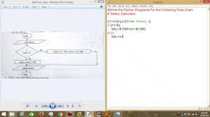 Simple Paycheck Calculator Tutorial 12 Python Salary Calculator Flow Chart Youtube