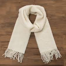 100 alpaca wrap scarf in solid bone from peru andean delight in bone