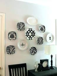 hanging plates on wall note the