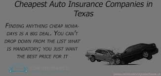 Car Insurance Quotes Texas Simple Cheapest Auto Insurance Quotes In Texas Carinsurancequotestexasus