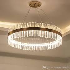 led 3 brightness clear glass rod retro bronze gold ceiling lights chandeliers pendant lights lighting living room lights stair light large chandeliers