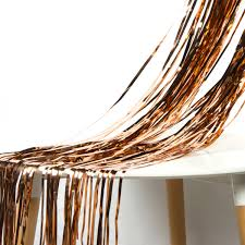 2 of 6 rose gold foil fringe curtain party wedding backdrop hen night wall door decor