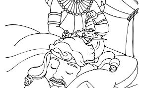 Impressive Samson Coloring Page Bible Defeats The Philistines Free