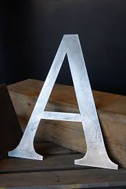 Modern industrial metal wall art letters steel home alphabet creative shiny design artistic