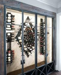 modern wall wine rack contemporary wine room with wood herringbone wall with vertical wine racks modern modern wall wine rack