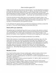 How To Write A Good Job Resume Photo Tomyumtumweb Com