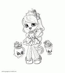 Shopkins Shoppies Coloring Pages Lucy Printable 3 Shopkins