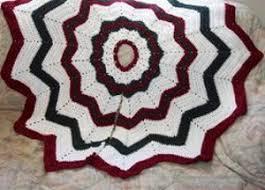 Christmas Tree Skirt Crochet Pattern Custom Simple Christmas Tree Skirt AllFreeCrochet