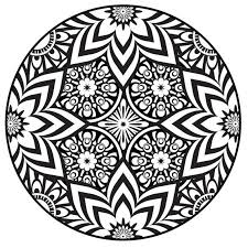 Small Picture Abstract coloring pages circled mandala ColoringStar