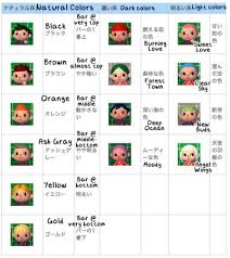 New Leaf Hair Color Chart Acnl Hair Tumblr