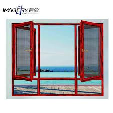 Customized Wood Clad Aluminum Window with Mosquito <b>Mesh</b> on ...
